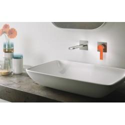 Color rubinetto per lavabo incasso a muro con placca, leve colorate e scatola ispezionabile 8037