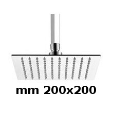 200x200 ceiling shower head with arm