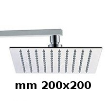 Wall shower head 200x200 with arm