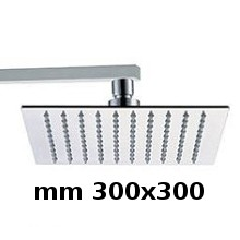 Wall shower head 300x300 with arm