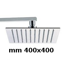 Wall shower head 400x400 with arm