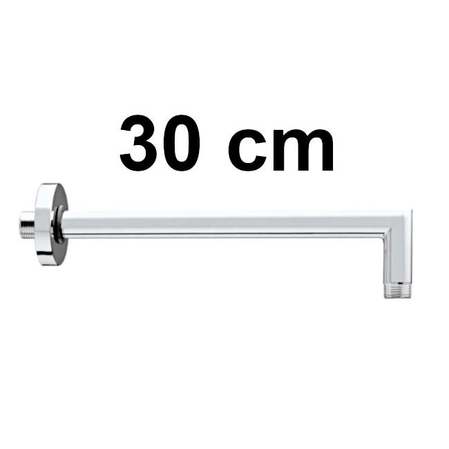 Round, right angle, horizontal - length 30 cm